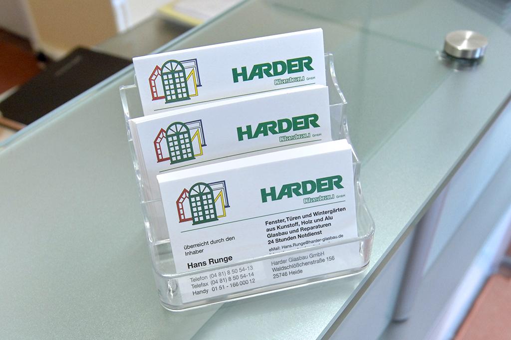 HARDER Glasbau - Kontakt